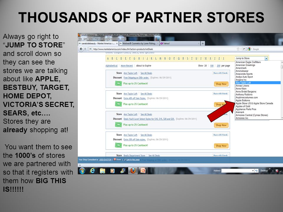 THOUSANDS OF PARTNER STORES