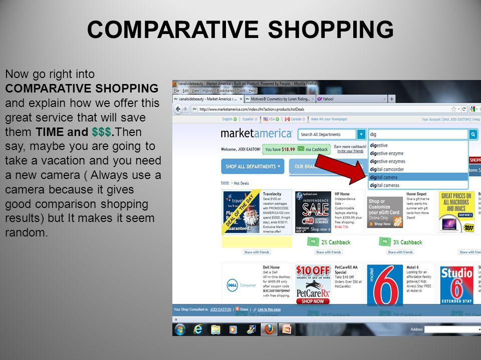 COMPARATIVE SHOPPING
