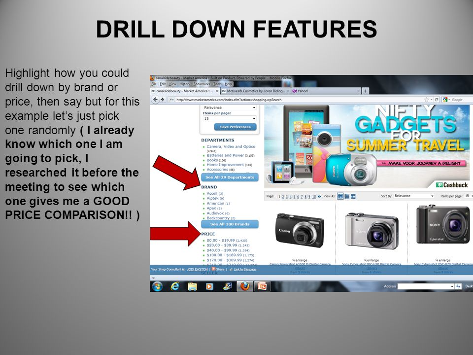 DRILL DOWN FEATURES