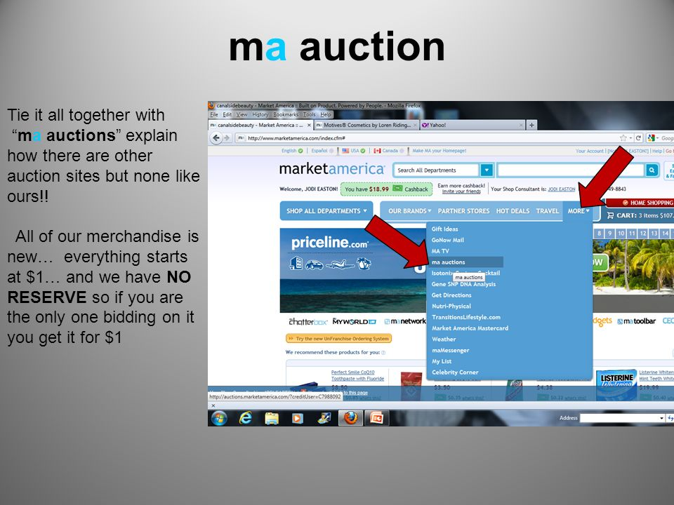 ma auction Tie it all together with