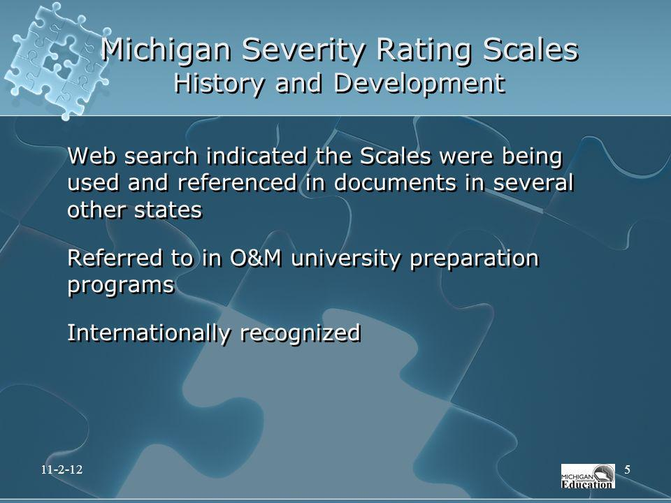 Michigan Severity Rating Scales History and Development