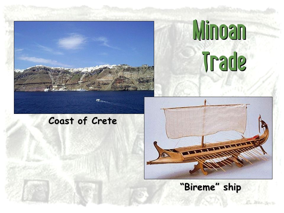 Minoan Trade Coast of Crete Bireme ship