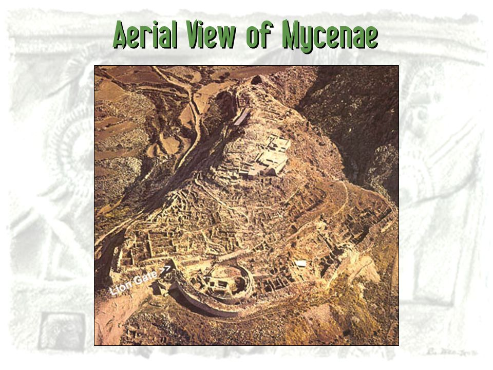 Aerial View of Mycenae