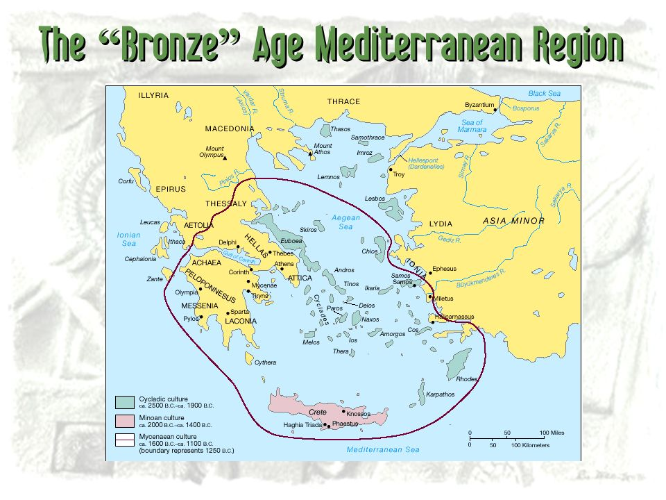 The Bronze Age Mediterranean Region