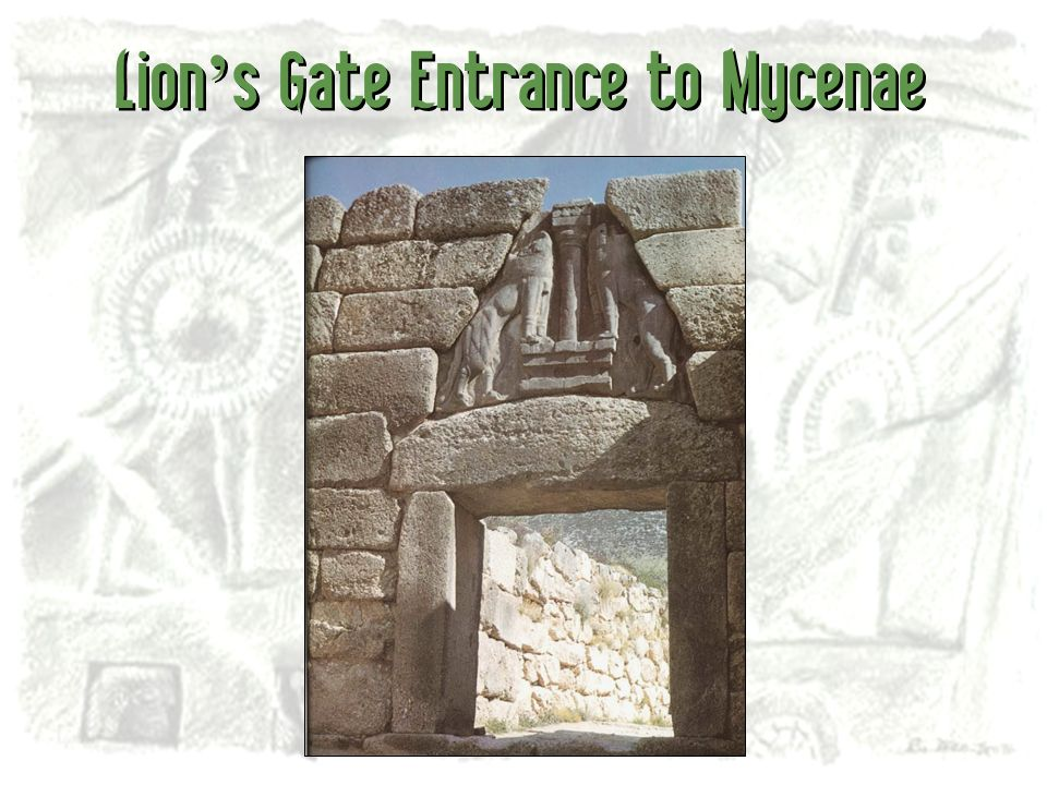 Lion's Gate Entrance to Mycenae