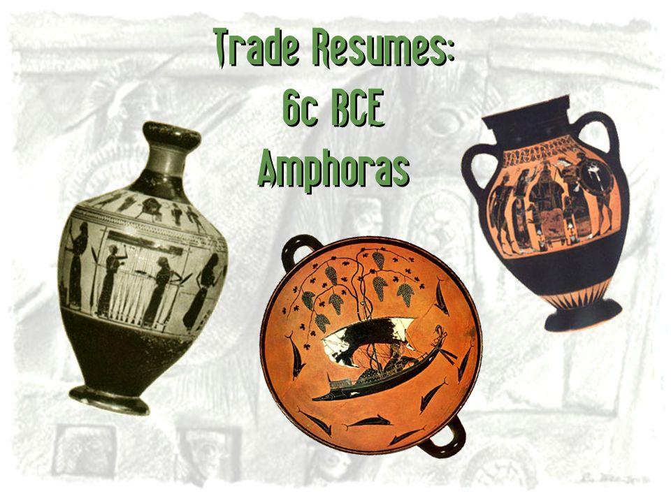 Trade Resumes: 6c BCE Amphoras