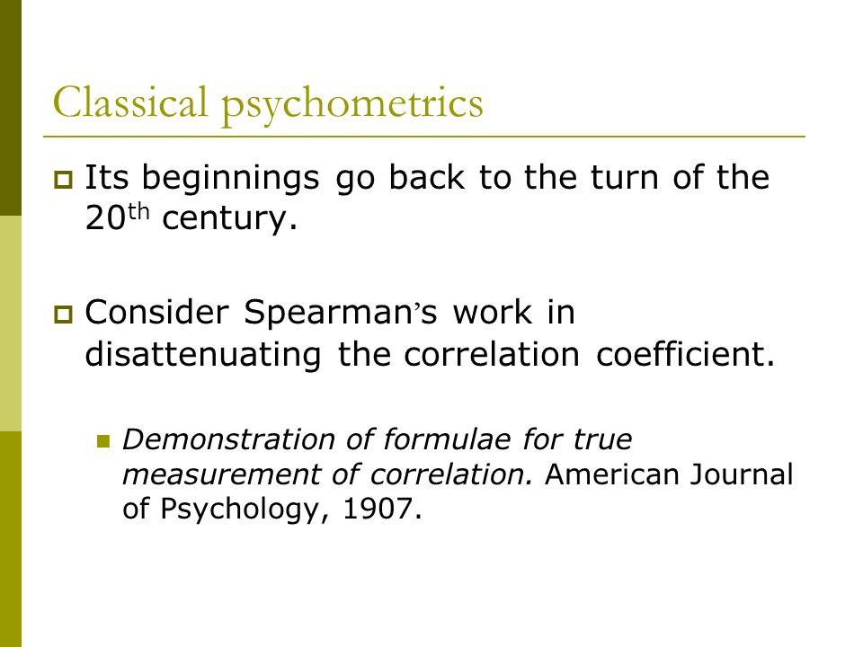 Classical psychometrics