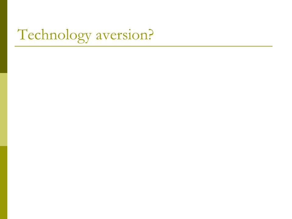 Technology aversion