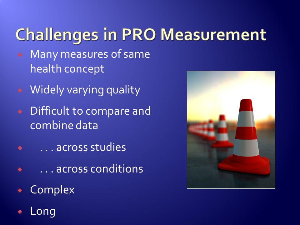 Challenges in PRO Measurement