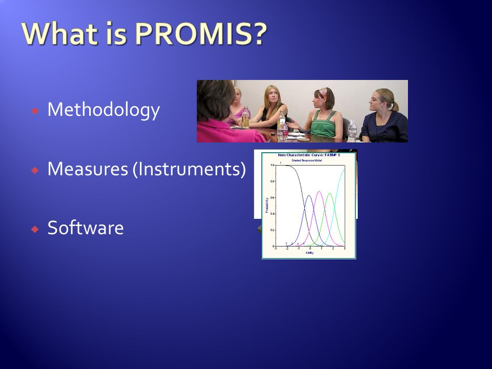 What is PROMIS Methodology Measures (Instruments) Software