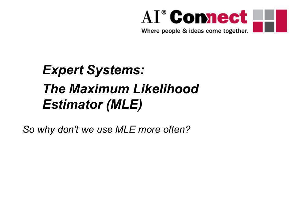 The Maximum Likelihood Estimator (MLE)