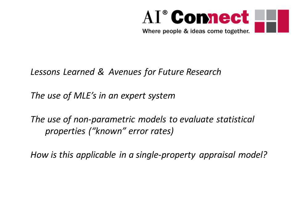 Lessons Learned & Avenues for Future Research