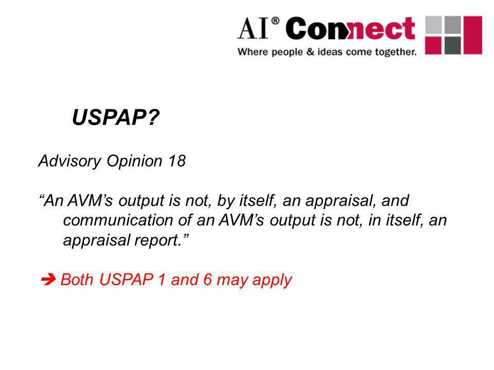 USPAP Advisory Opinion 18