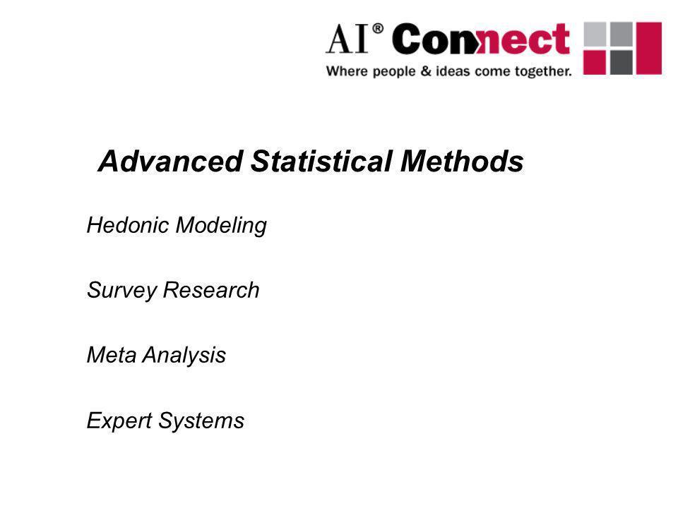 Advanced Statistical Methods