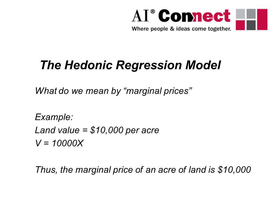 The Hedonic Regression Model