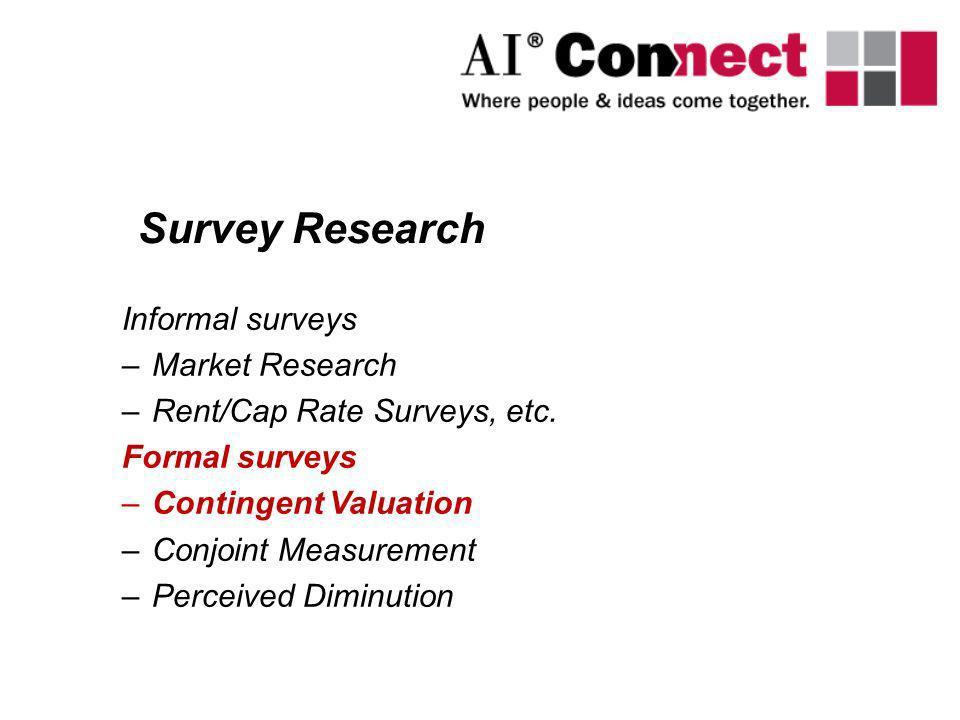 Survey Research Informal surveys Market Research