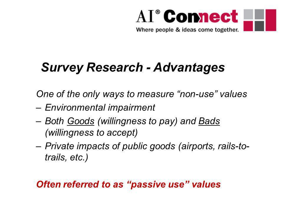 Survey Research - Advantages