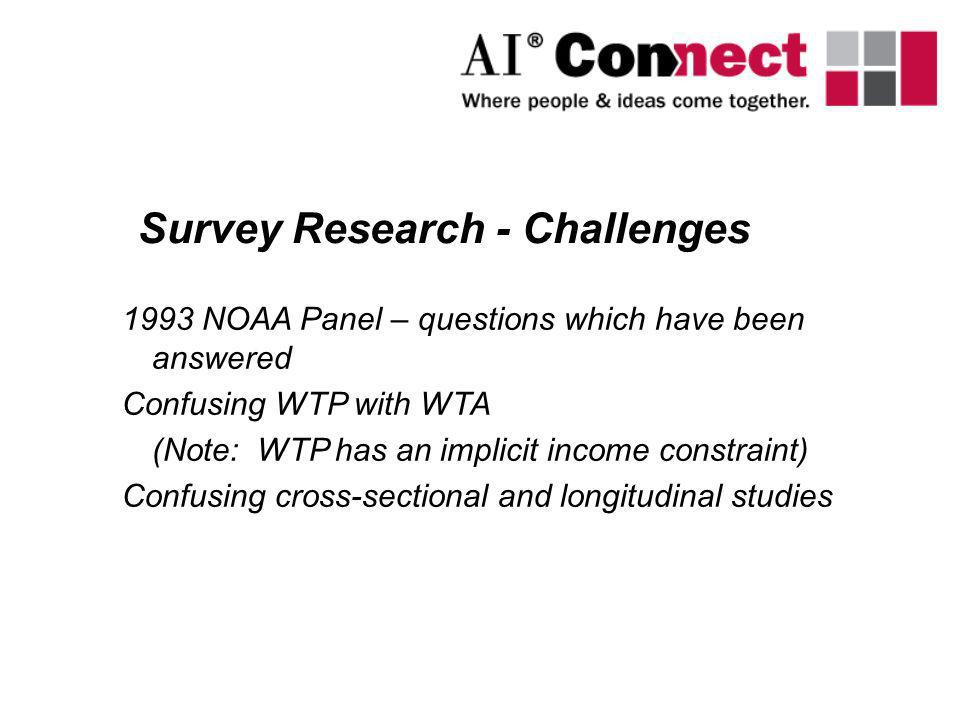 Survey Research - Challenges