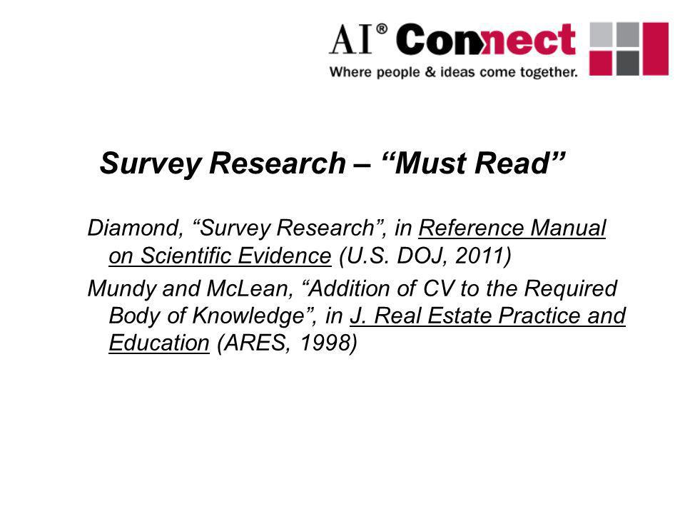 Survey Research – Must Read