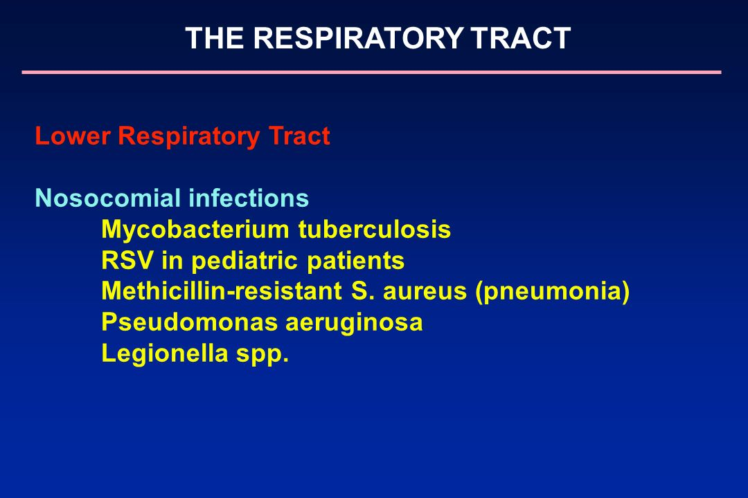Lower Respiratory Tract Nosocomial infections