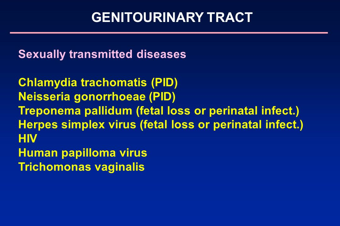Sexually transmitted diseases Chlamydia trachomatis (PID)