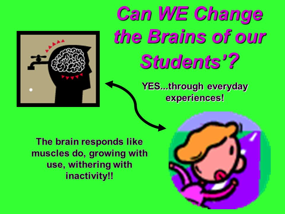 Can WE Change the Brains of our Students'