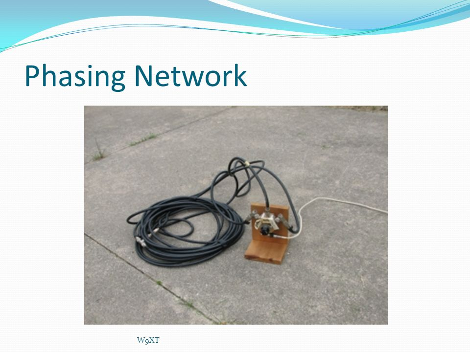 Phasing Network W9XT