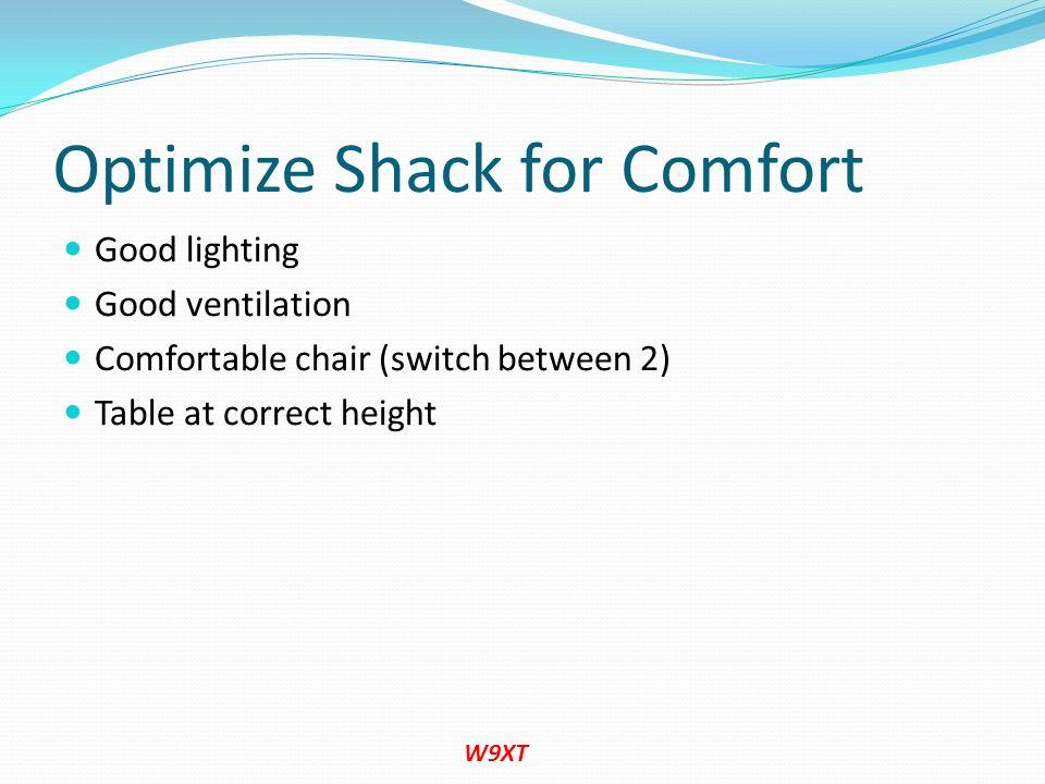 Optimize Shack for Comfort