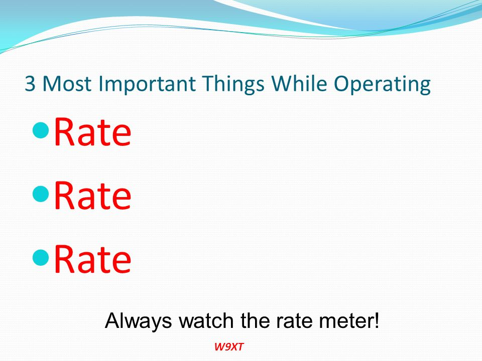3 Most Important Things While Operating