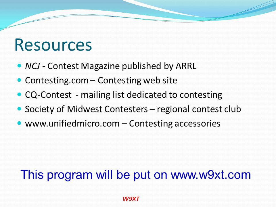 This program will be put on www.w9xt.com