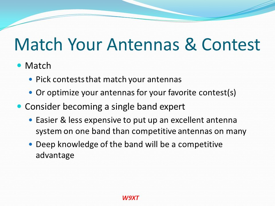 Match Your Antennas & Contest