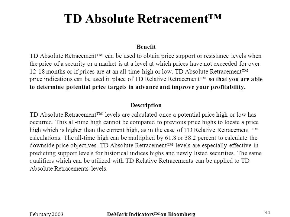TD Absolute Retracement™