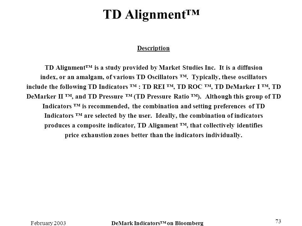 TD Alignment™ Description