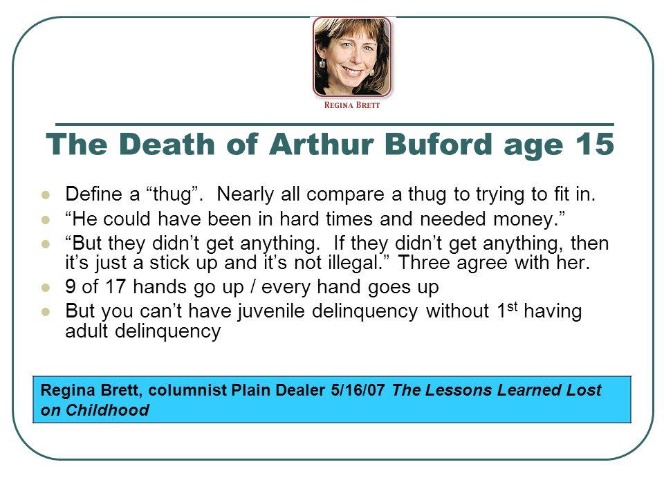 The Death of Arthur Buford age 15