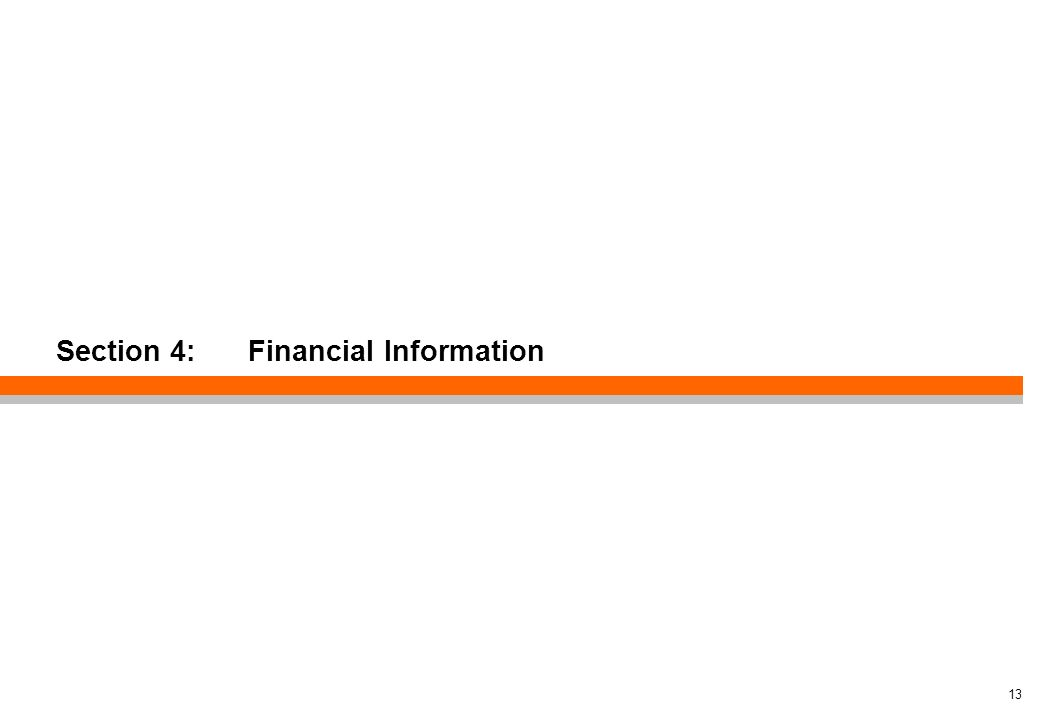 Section 4: Financial Information