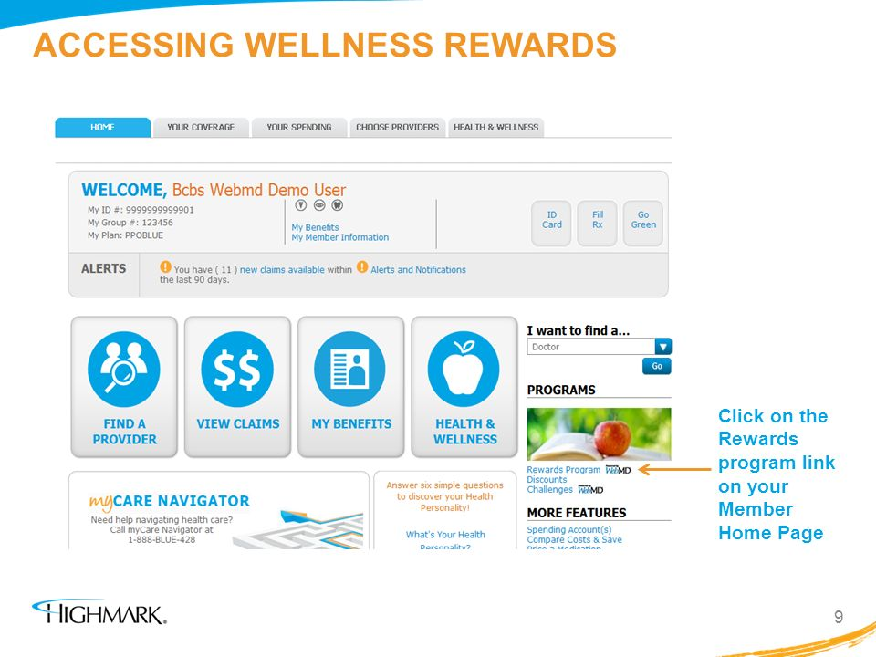 ACCESSING WELLNESS REWARDS