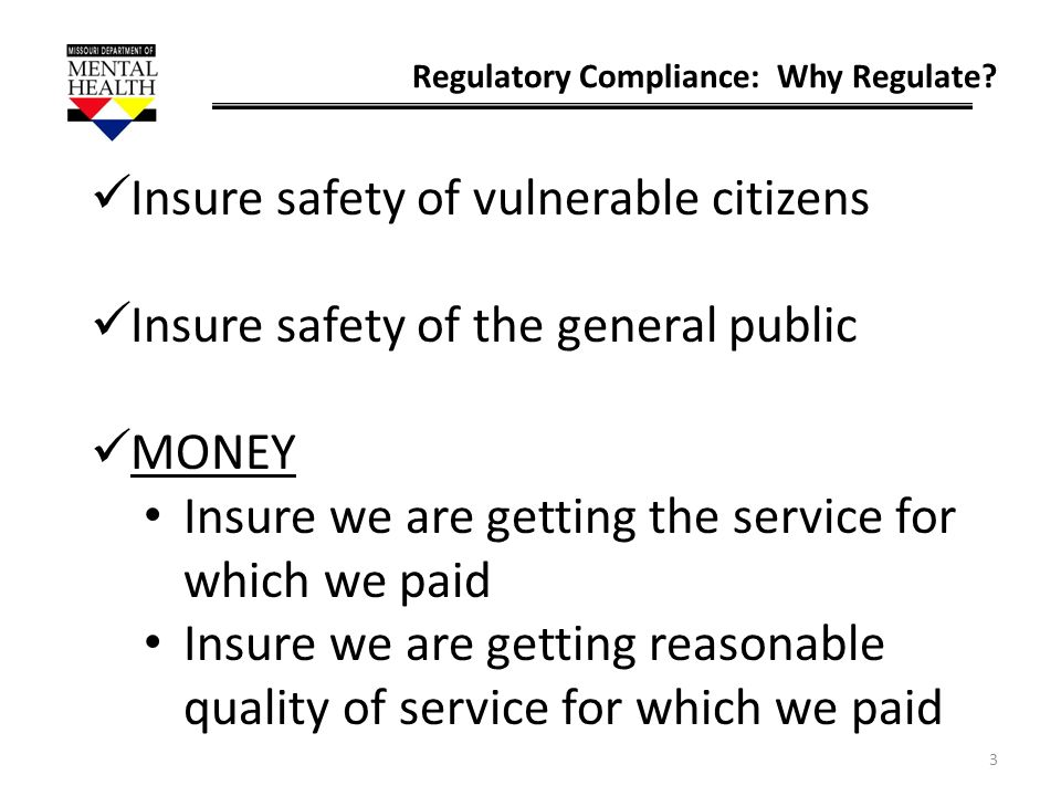 Insure safety of vulnerable citizens