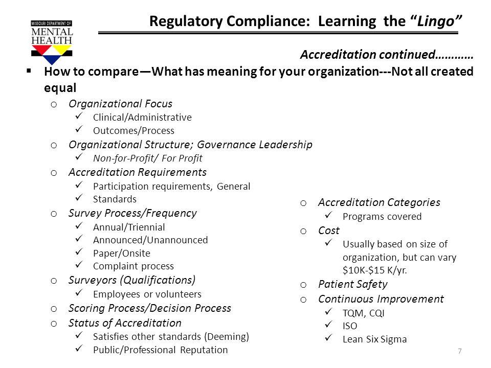 Regulatory Compliance: Learning the Lingo