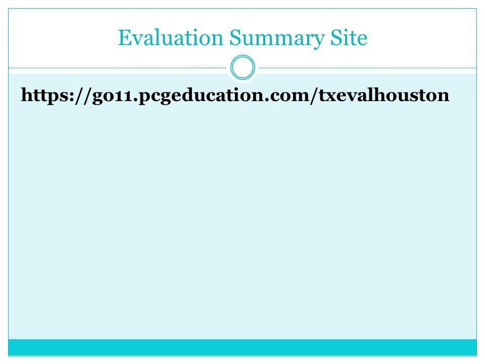 Evaluation Summary Site