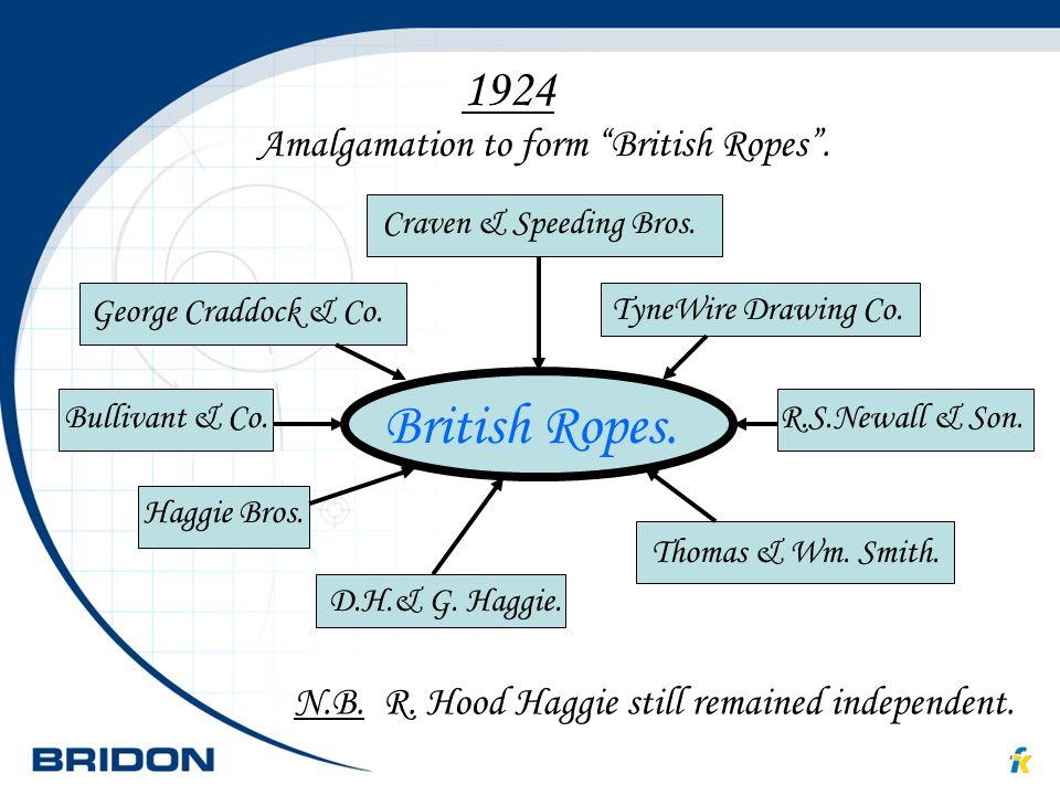British Ropes. 1924 British Ropes.