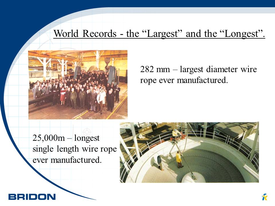 World Records - the Largest and the Longest .