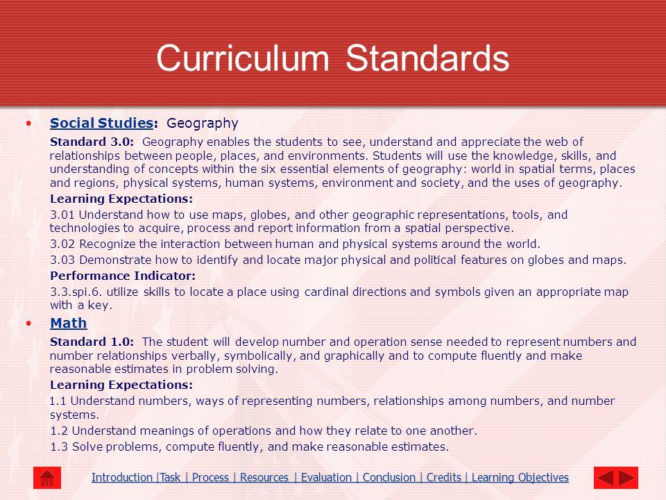 Curriculum Standards Social Studies: Geography