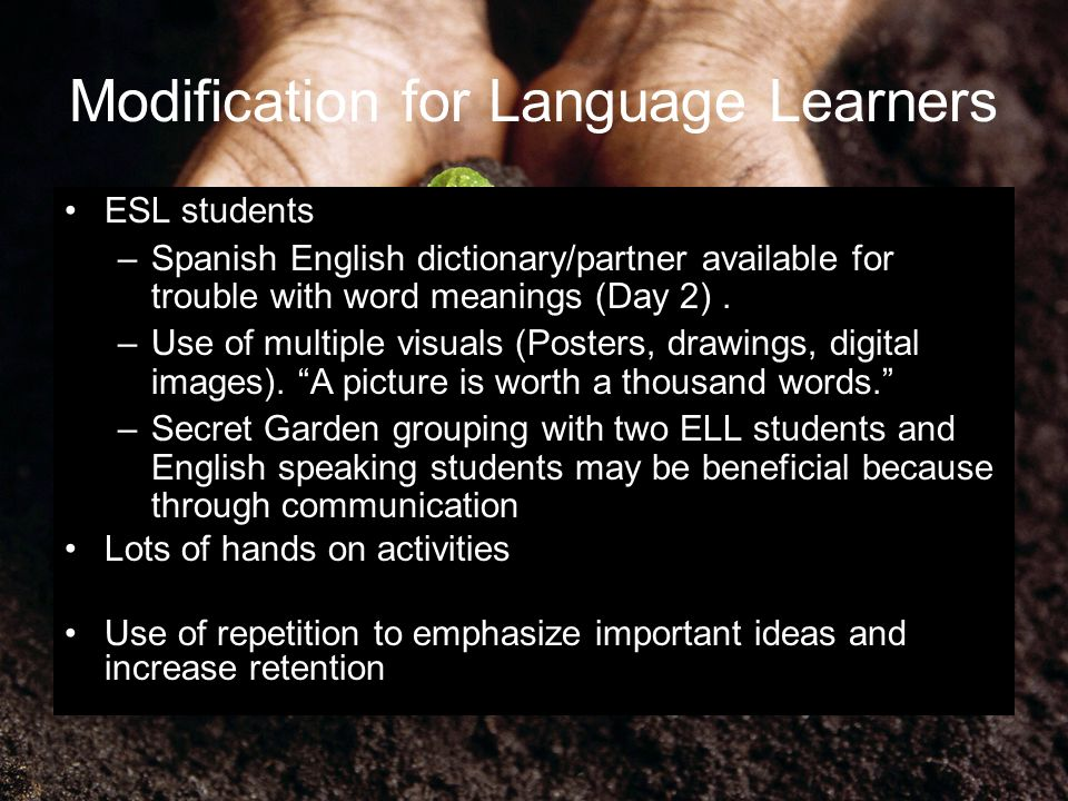 Modification for Language Learners