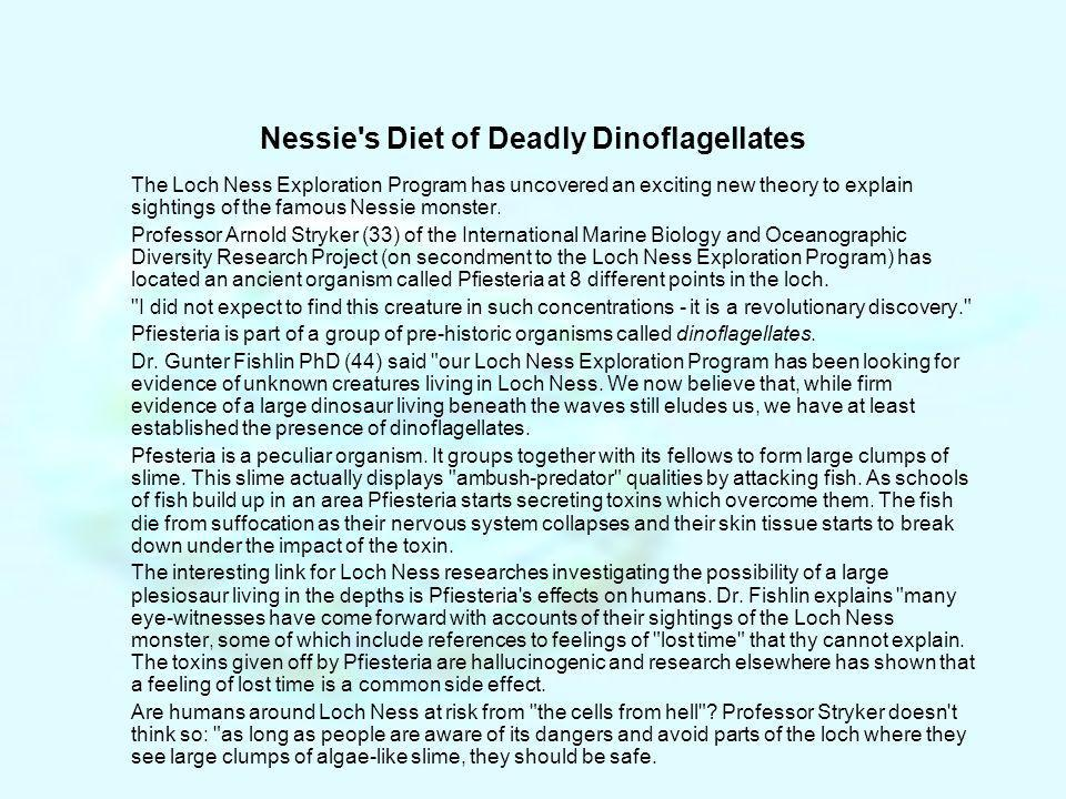 Nessie s Diet of Deadly Dinoflagellates