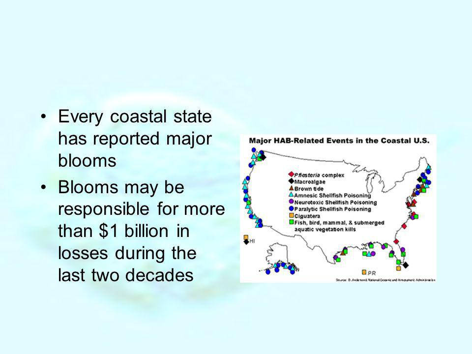 Every coastal state has reported major blooms
