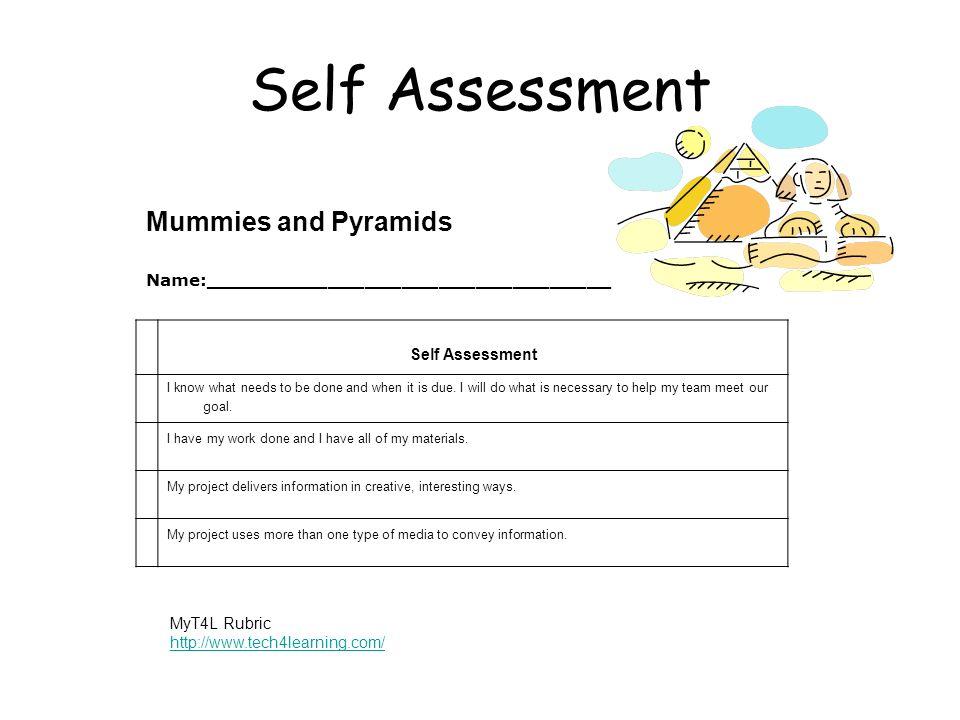 Self Assessment Mummies and Pyramids