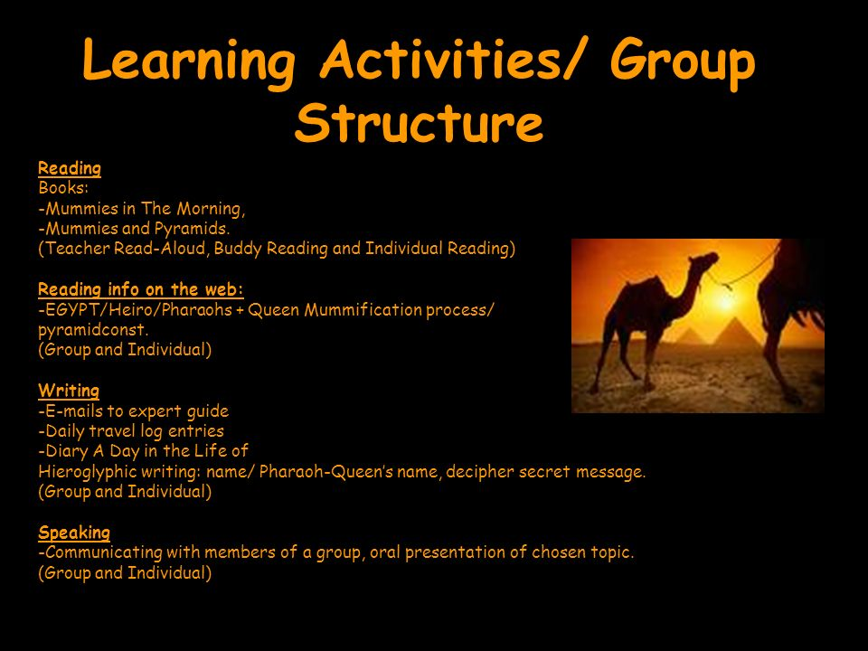 Learning Activities/ Group Structure