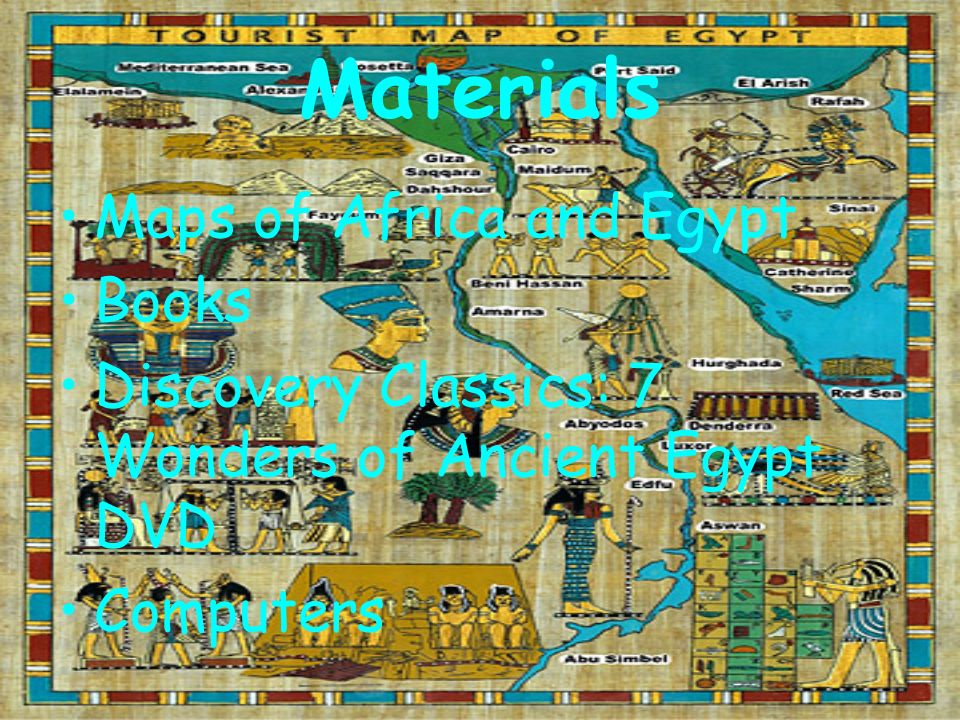 Materials Maps of Africa and Egypt Books
