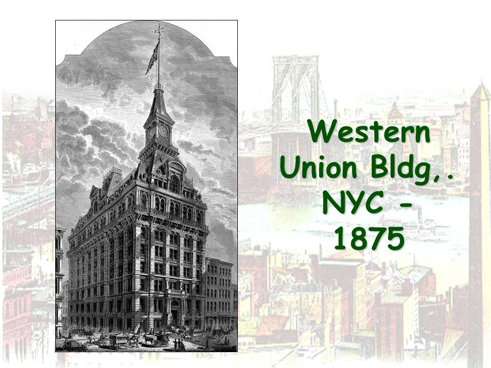 Western Union Bldg,. NYC - 1875