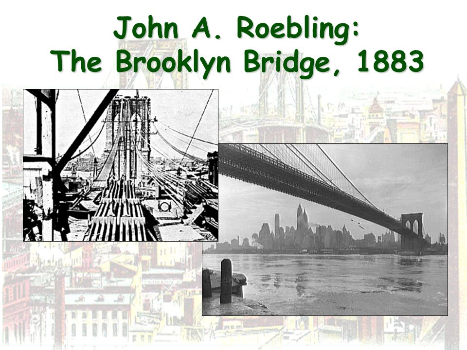 John A. Roebling: The Brooklyn Bridge, 1883